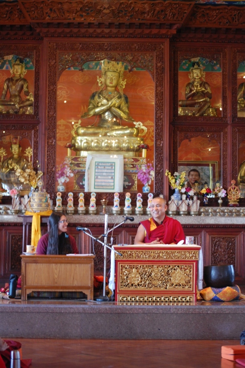 Drupon Khenpo Teaching, Margaret Translating